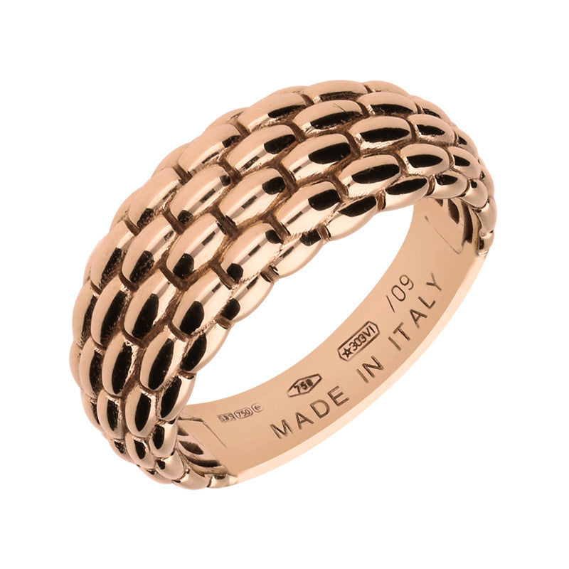Fope Lux 18ct Rose Gold Signature Weave Ring