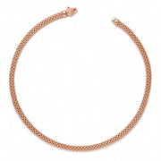 Fope Meridiani 18ct Rose Gold Rope Necklace. 591C.
