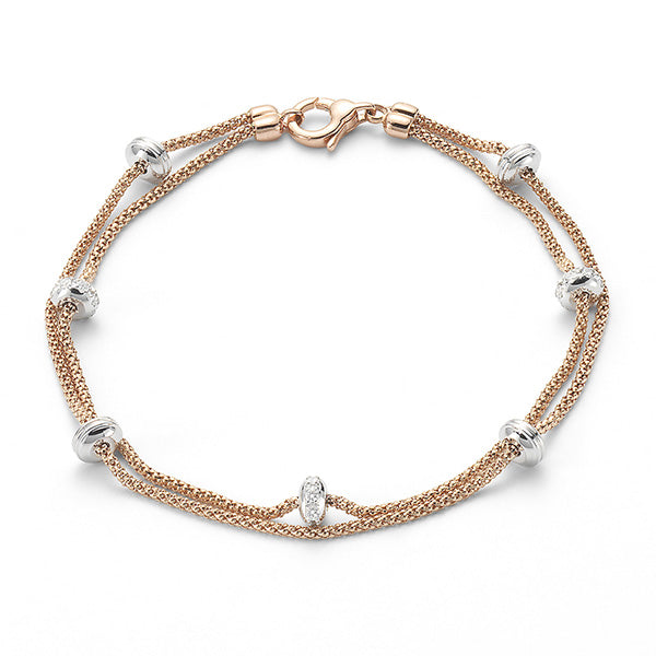 Fope Phylo 18ct Rose Gold 0.24ct Diamond Bracelet