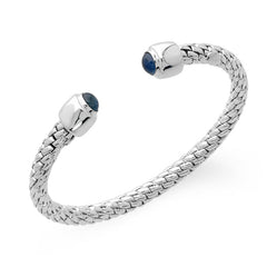 Fope Silverfope Ice Sterling Silver Sapphire Bangle