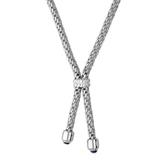 Fope Silverfope Sterling Silver Sapphire Necklace