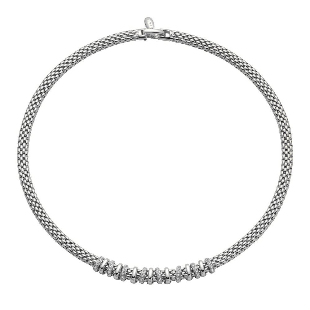 Fope Virginia 18ct White Gold 0.32ct Diamond Necklace