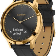 Garmin Watch Vivomove HR Premium Gold Black Leather 010-01850-AC