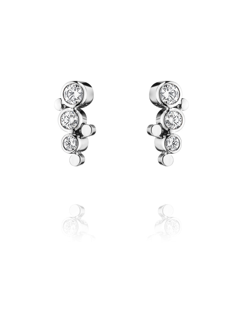 Georg Jensen 18ct White Gold 0.24ct Diamond Cascade Earrings
