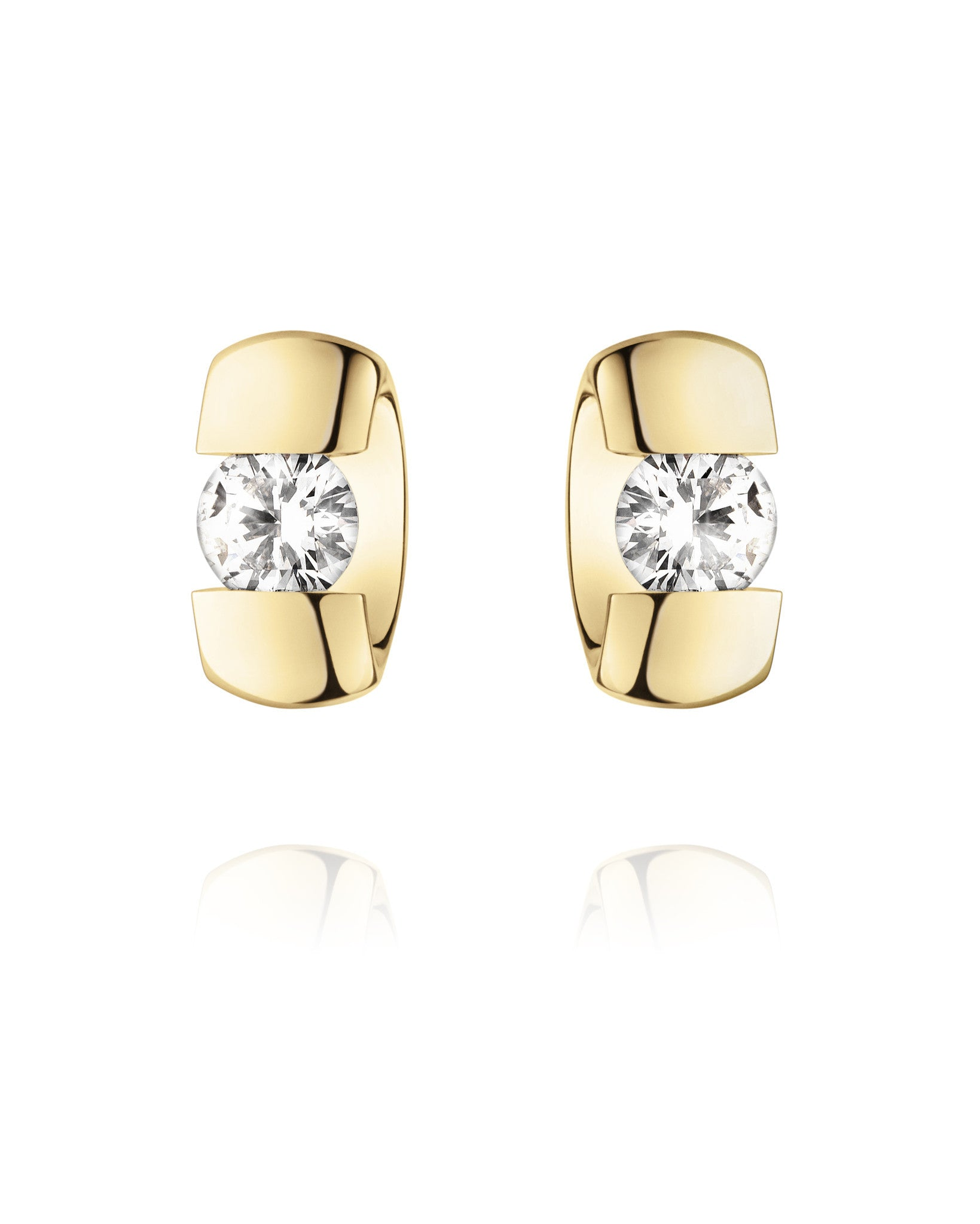 Georg Jensen 18ct Yellow Gold 0.40ct Diamond Centenary Earrings