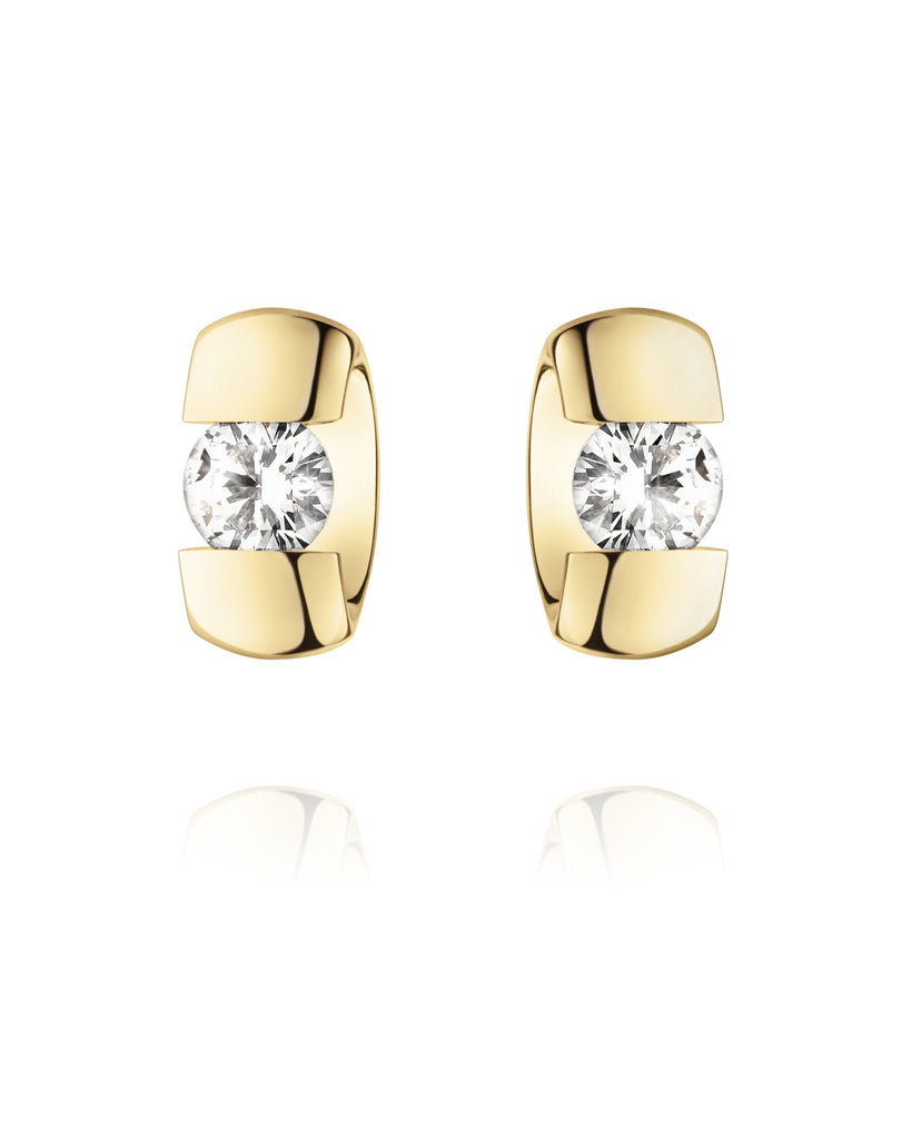 Georg Jensen Yellow Gold Diamond Centenary Earrings D