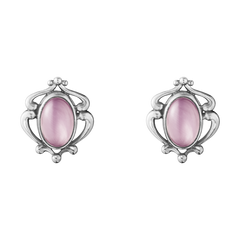 Georg Jensen 2019 Heritage Sterling Silver Lilac Quartz Earclips