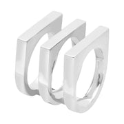 Georg Jensen Aria Sterling Silver Three Row Ring, 3560229.
