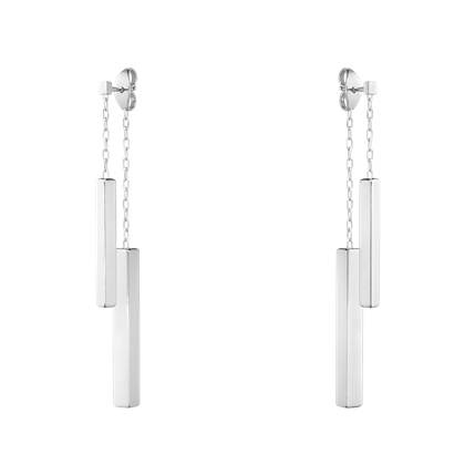 Georg Jensen Aria Sterling Silver Double Bar Earrings