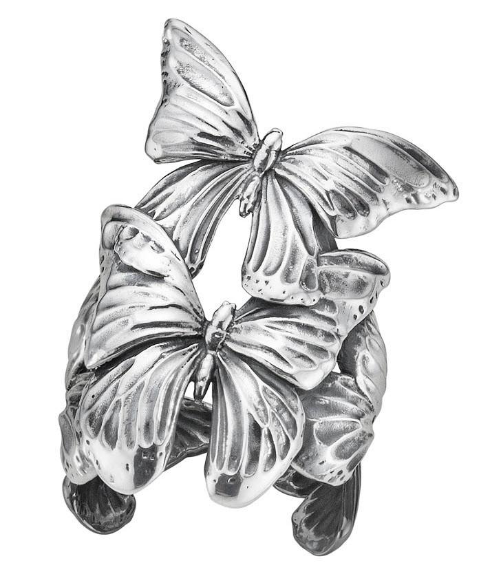 Georg Jensen Askill Sterling Silver Butterfly Ring D