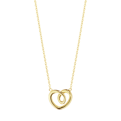 Georg Jensen Hearts Yellow Gold Small Necklace D