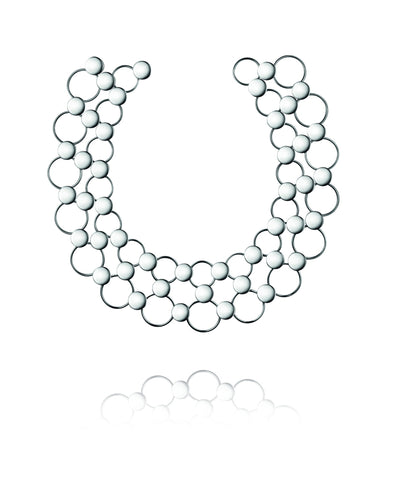 Georg Jensen Regitze Sterling Silver Necklace D