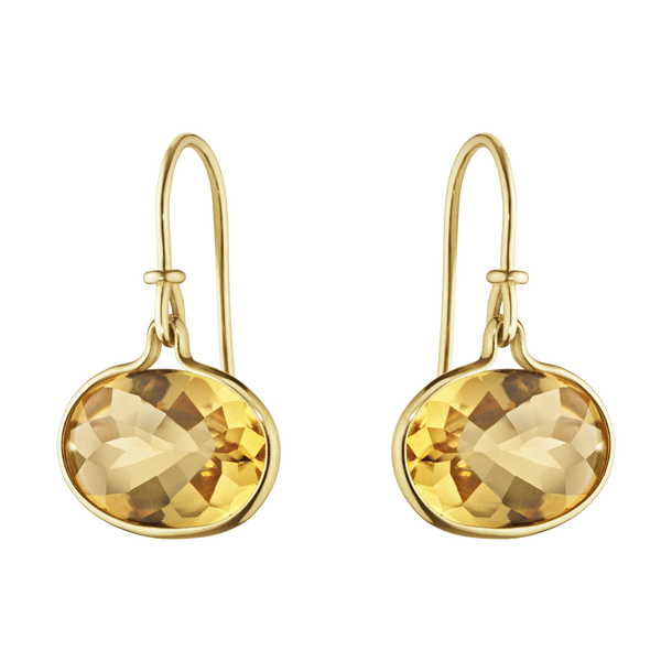 Georg Jensen Savannah 18ct Yellow Gold Citrine Earrings