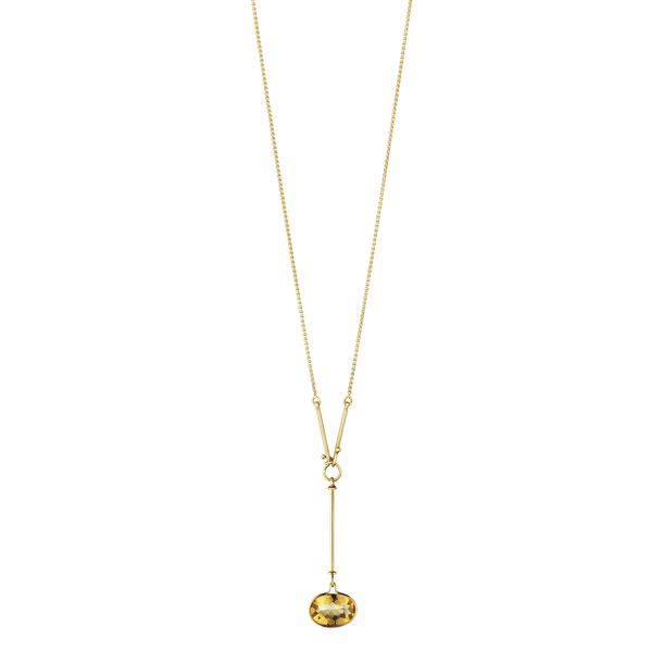 Georg Jensen Savannah 18ct Yellow Gold Citrine Long Necklace