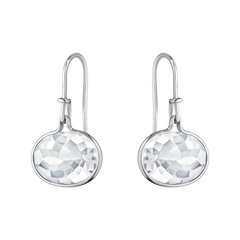 Georg Jensen Savannah Sterling Silver Rock Crystal Earrings