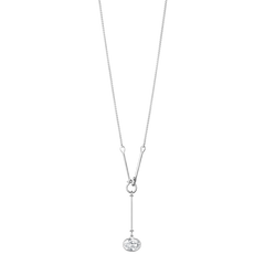 Georg Jensen Savannah Sterling Silver Rock Crystal Long Necklace