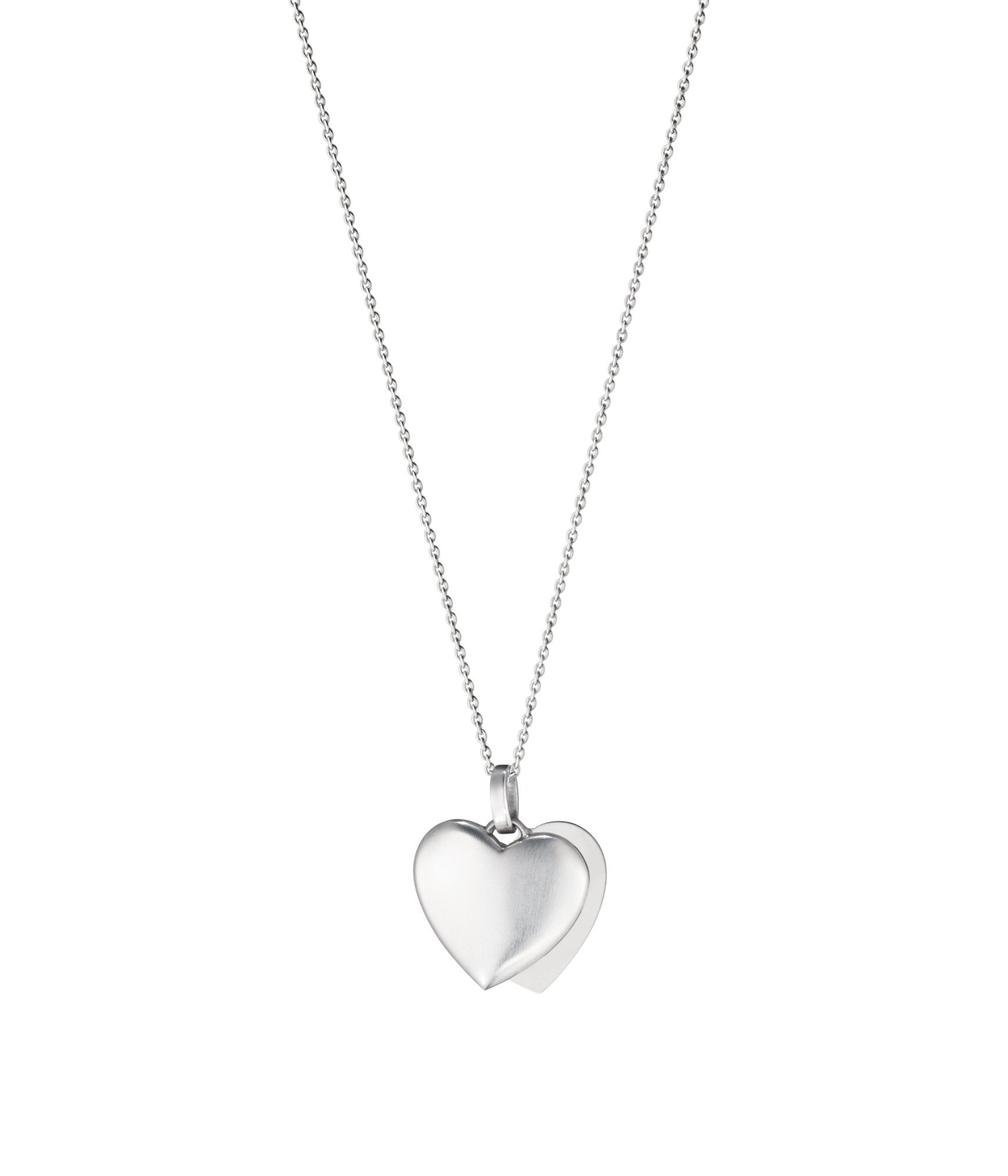 Georg jensen sterling silver double heart necklace d 3536361 c w georg jensen sterling silver double heart necklace d aloadofball Images