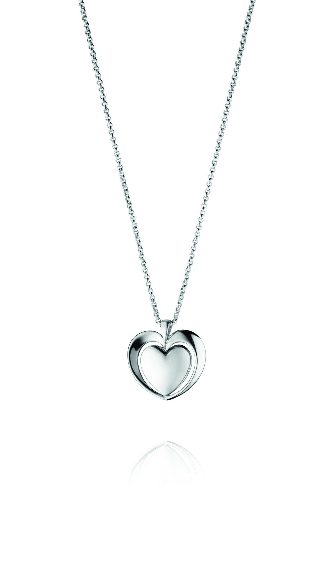 Georg Jensen Sterling Silver Artist Heart Necklace D