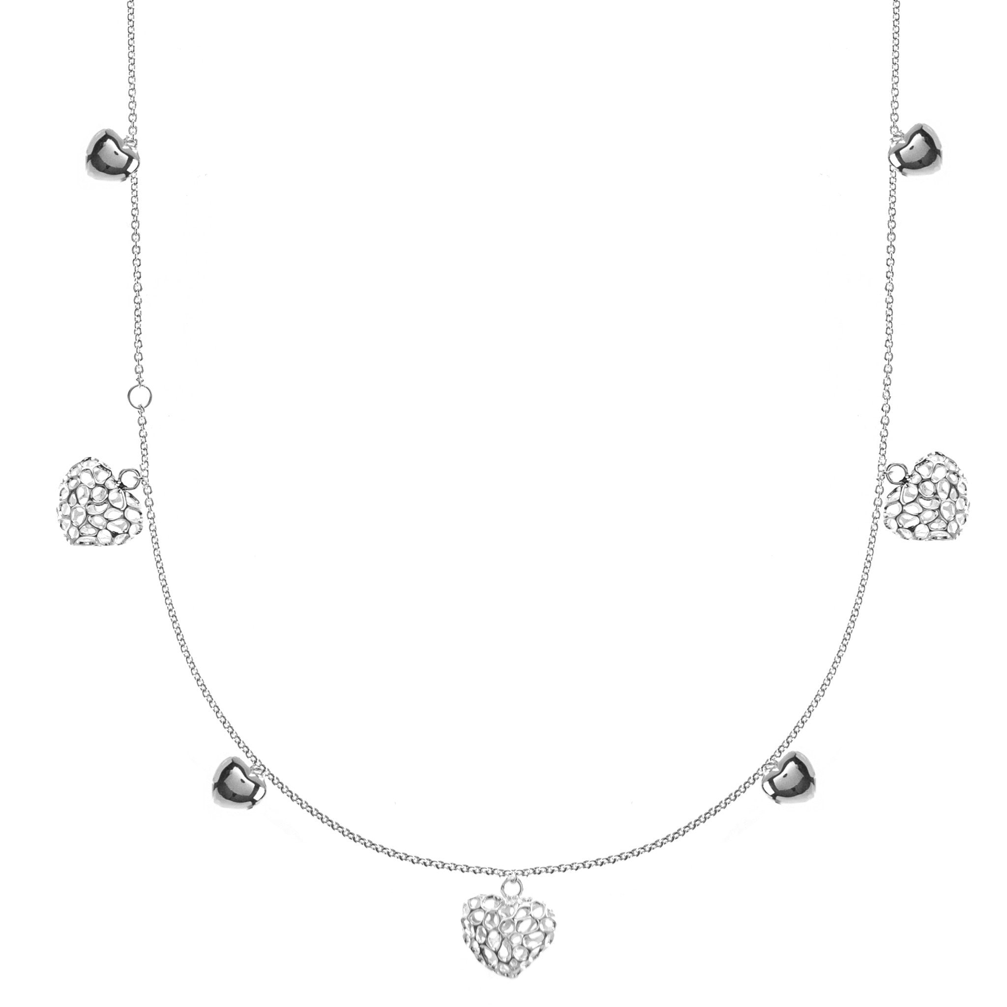 Rachel Galley Necklace Amore Charm chain Silver