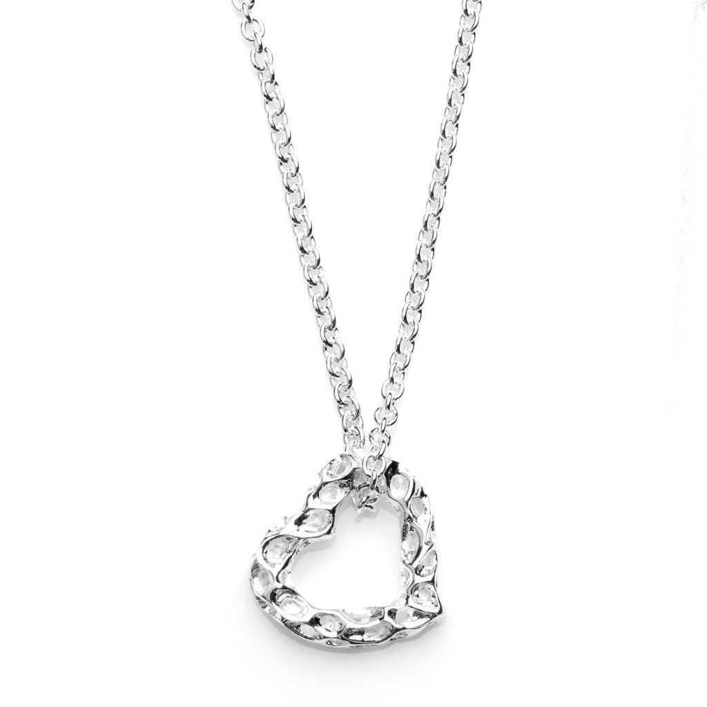 Rachel Galley Amore Sterling Silver Open Heart Necklace