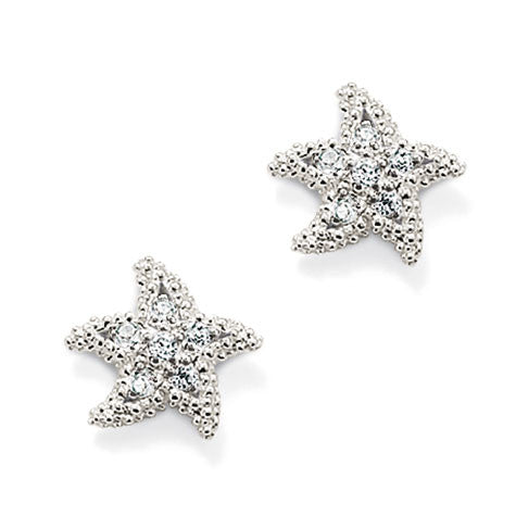 Thomas Sabo Earrings Glam & Soul White Zirconia Starfish Ear Studs