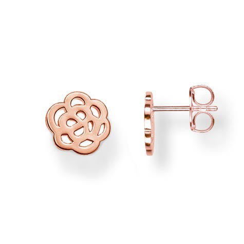 Thomas Sabo Earrings Special Addition 18k Rose Gold Flower Ear Studs