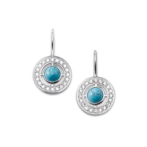 Thomas Sabo Earrings Glam & Soul Limited Turquoise Round D