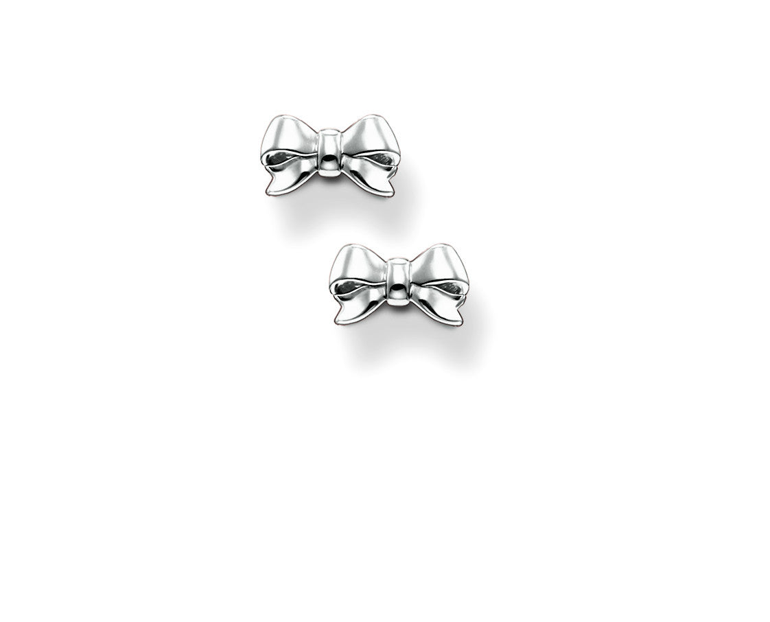 Thomas Sabo Earrings Silver Bow Stud