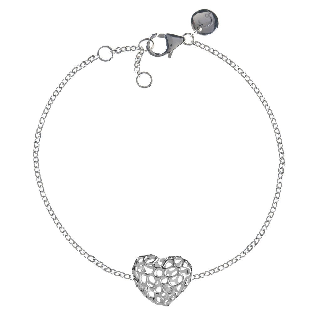 Rachel Galley Amore Sterling Silver Heart Single Bracelet