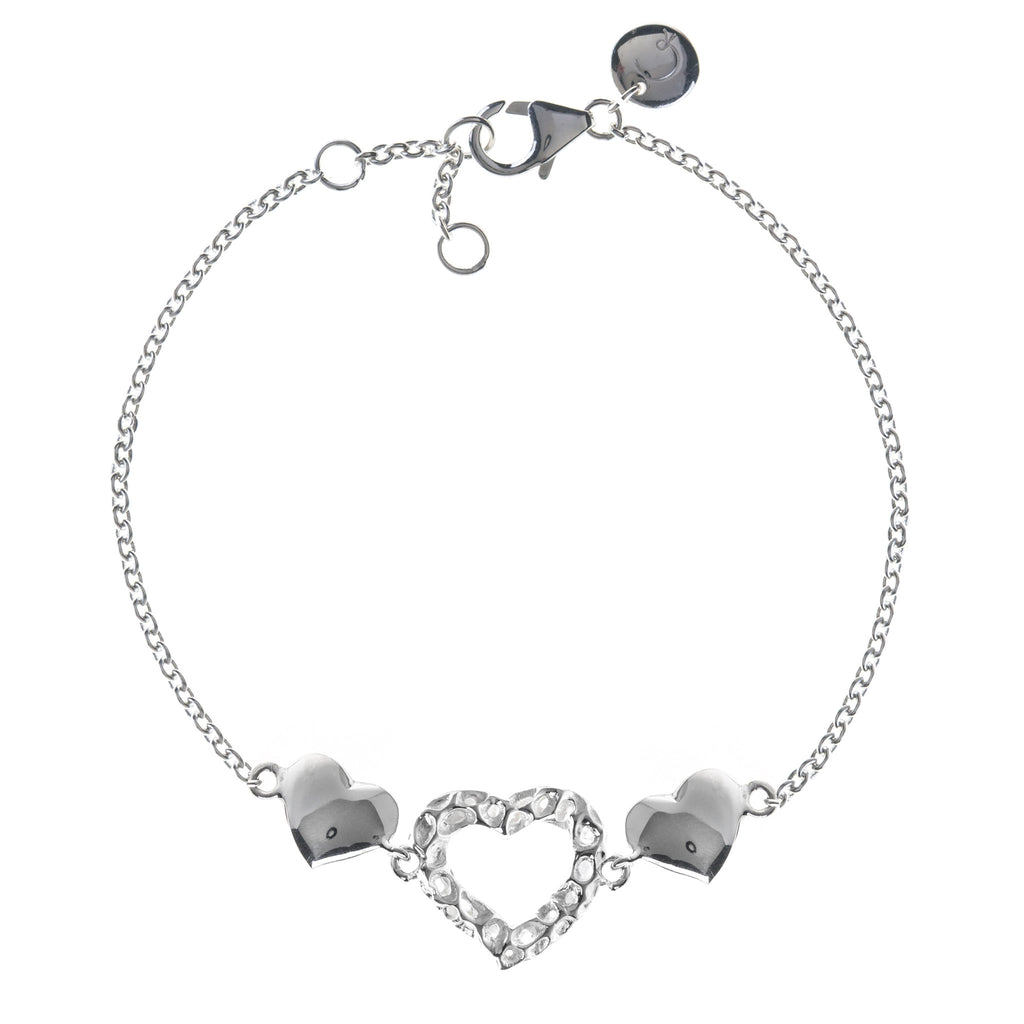 Rachel Galley Amore Sterling Silver Heart Triple Bracelet