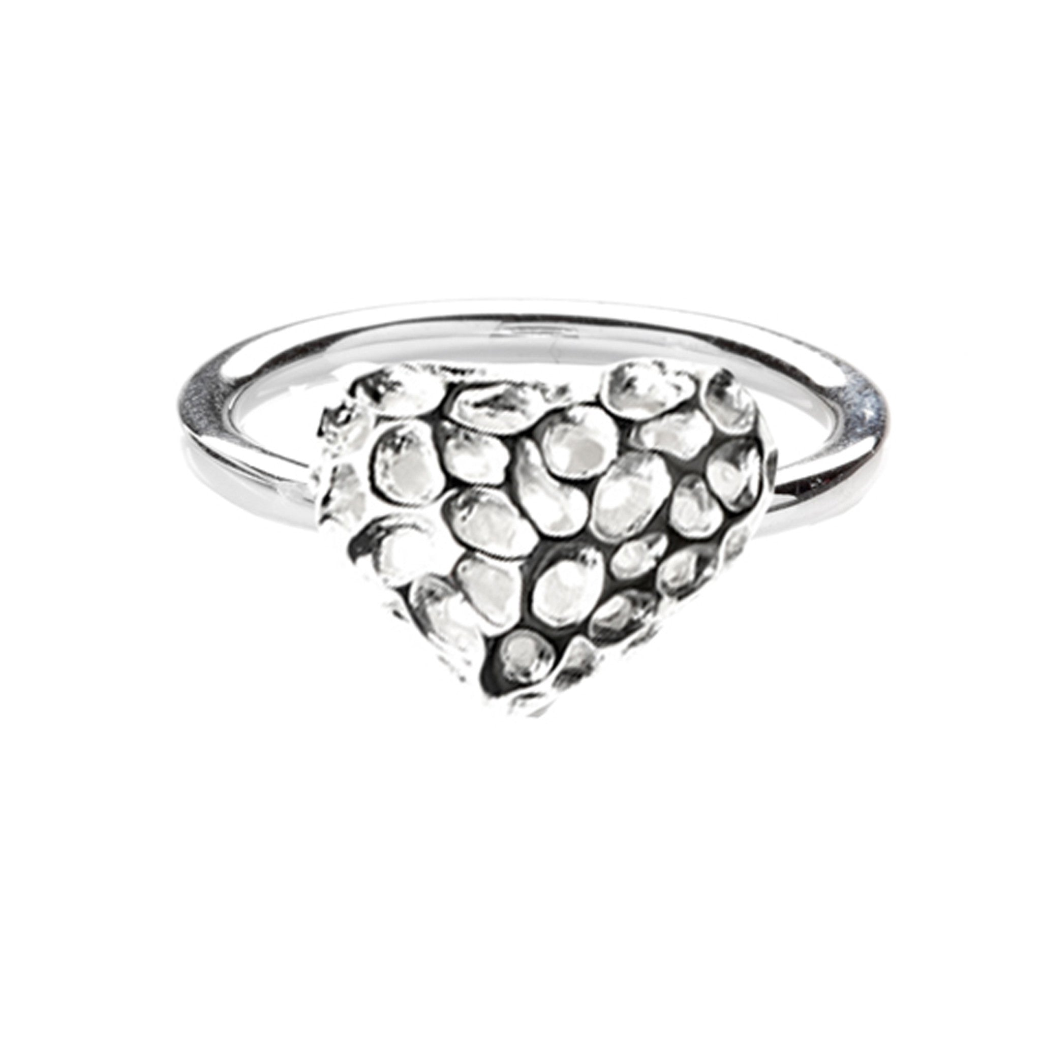 Rachel Galley Ring Amore Heart Silver