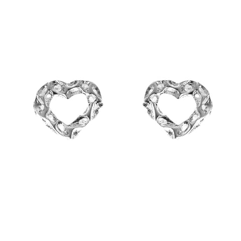 Rachel Galley Earrings Amore Mini Heart Stud Silver