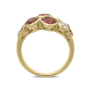 Hans D. Krieger 18ct Rose Gold Pink Tourmaline Diamond Bubble Ring KRG-241
