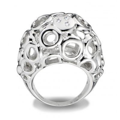 Hot Diamonds Bali Sterling Silver Bubble Ring DR096