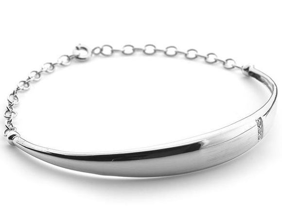 Hot Diamonds Belle Sterling Silver Diamond Bracelet. DL299.