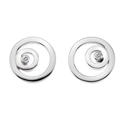 Hot Diamonds Eternity Sterling Silver Captured Circles Earrings D