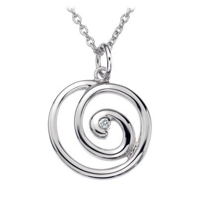 Hot Diamonds Eternity Sterling Silver Spiral Necklace