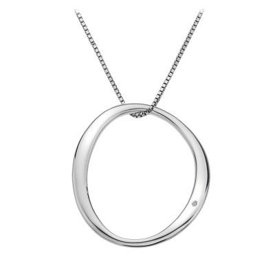 Hot Diamonds Extravagance Sterling Silver Open Circle Necklace D