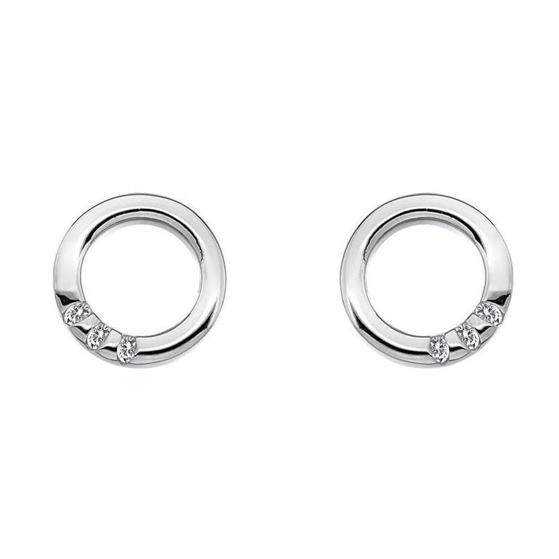Hot Diamonds Halo Circle Sterling Silver Earrings