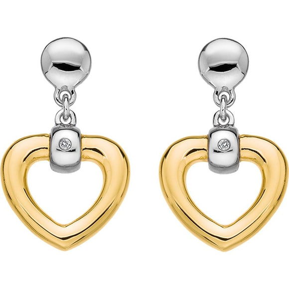 Hot Diamonds Just Add Love Bonded Heart Earrings D DE400