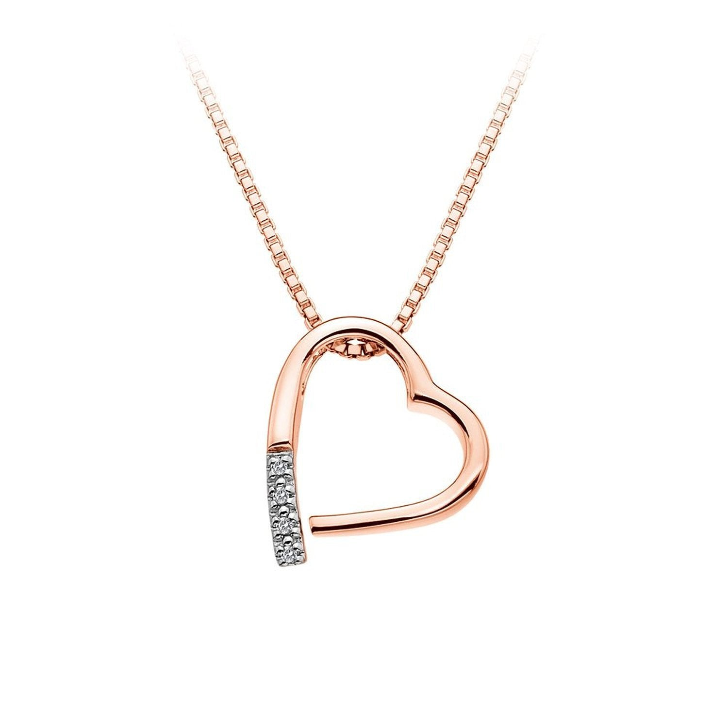 Hot Diamonds Just Add Love Rose Gold Plated Memories Necklace
