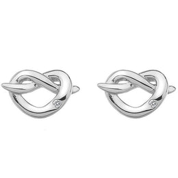 Hot Diamonds Love Sterling Silver Infinity Heart Stud Earrings DE450