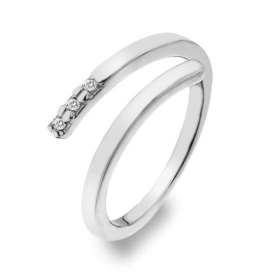 Hot Diamonds Love Sterling Silver Diamond Glide Ring