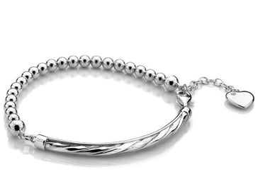 Hot Diamonds Luxury Sterling Silver Breeze Bracelet DL531