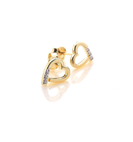 Hot Diamonds Memories Yellow Gold Plated Earrings