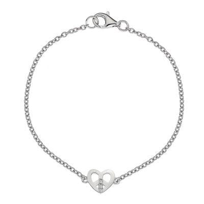 Hot Diamonds Micro Sterling Silver Love and Peace Bracelet D