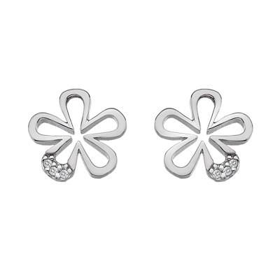 Hot Diamonds Micro Sterling Silver Petals Earrings DE337