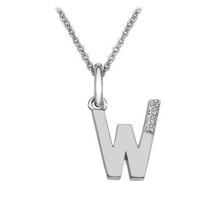 Hot Diamonds Micro 'W' Sterling Silver Necklace DP423