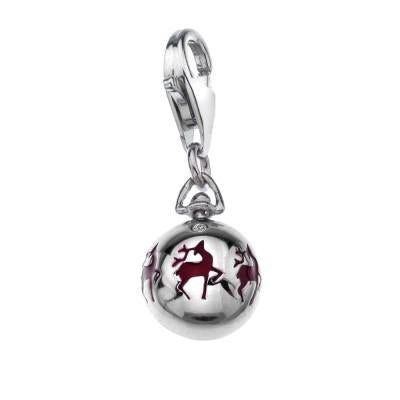 Hot Diamonds Moments Sterling Silver Christmas Bauble Charm DT220