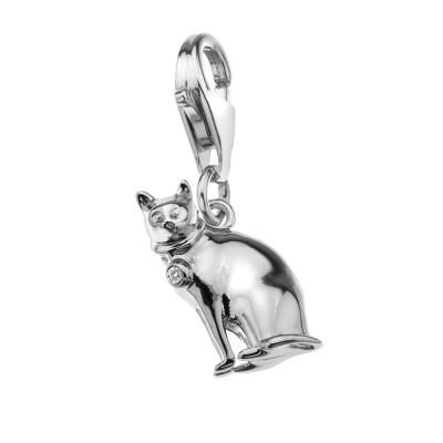 Hot Diamonds Moments Sterling Silver Kitty Kat Charm